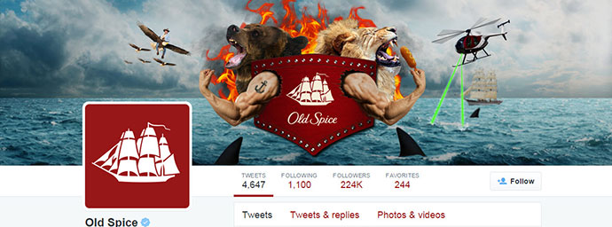 old spice twitter